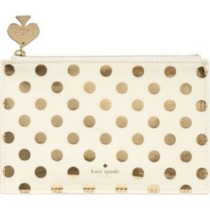 Kate Spade New York Dots Pencil Pouch/Travel Bag
